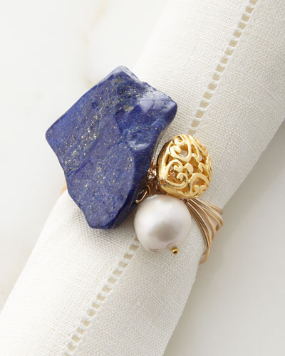Lapis Abstract Napkin Ring