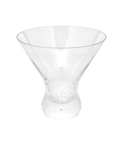 Clear Pebbles Stemless Martini