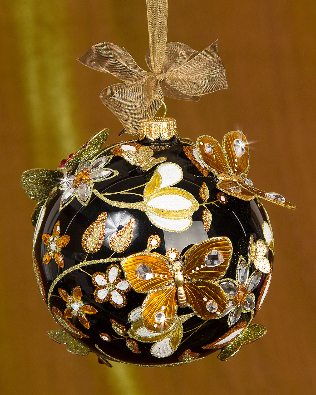 Floral Artisan Christmas Ornament