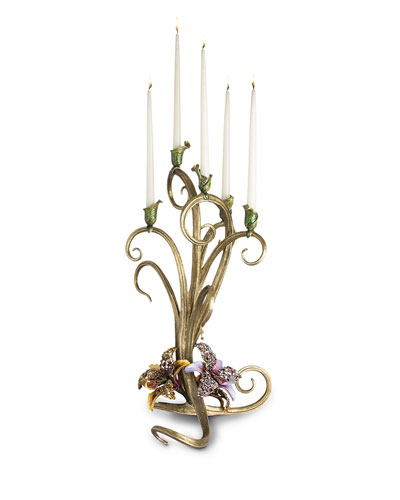 Jay Strongwater Orchid Candelabra