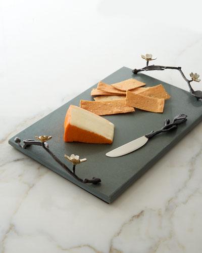 Michael Aram Dogwood Cheese Board with Knife
