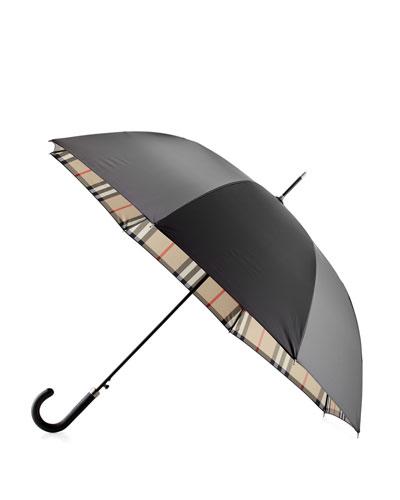 Regent Walking Umbrella, Black/Camel