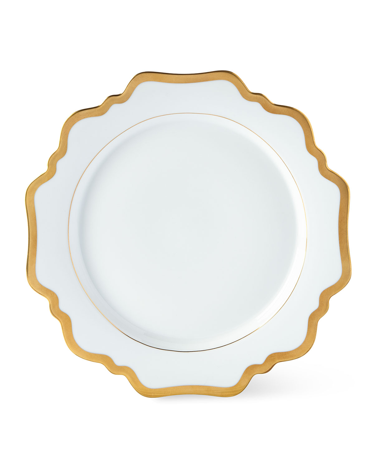 Anna Weatherley ANTIQUED WHITE DINNER PLATE