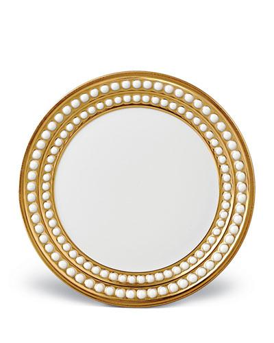 L'Objet Perlee Gold Bread & Butter Plate
