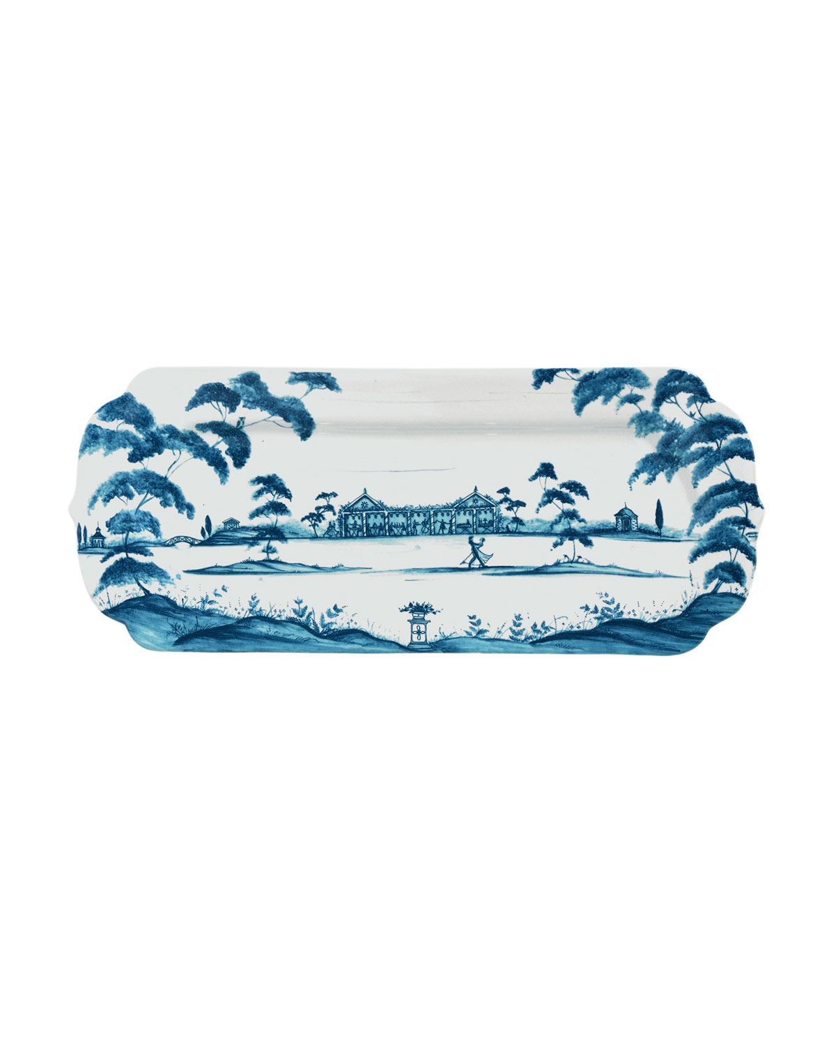 Country Estate Delft Blue Hostess Tray