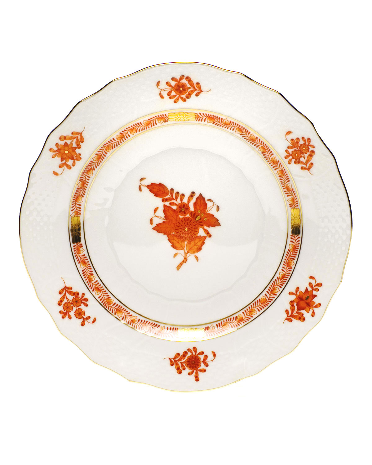 Herend Dinnerwares RUST CHINESE BOUQUET SALAD PLATE