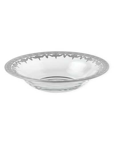 Arte Italica Vetro Silver Pasta Bowl