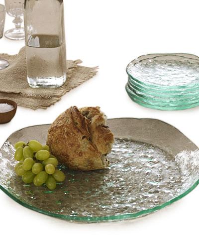 Annieglass Salt Textured Round Platter