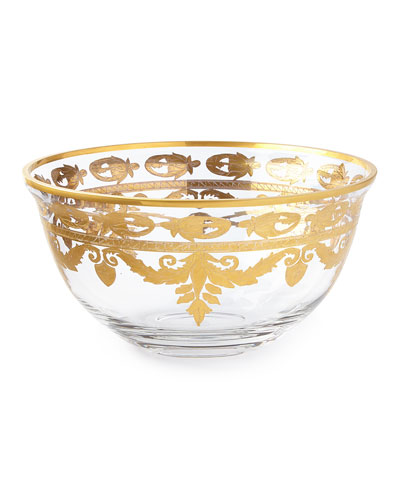 Arte Italica Vetro Gold Serving Bowl