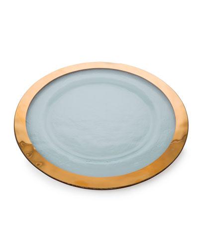 Annieglass Roman Antique Gold Service Plate