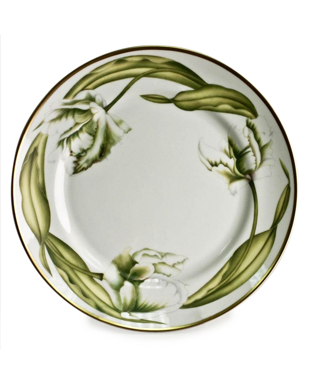 Anna Weatherley Dinnerwares WHITE TULIPS DINNER PLATE