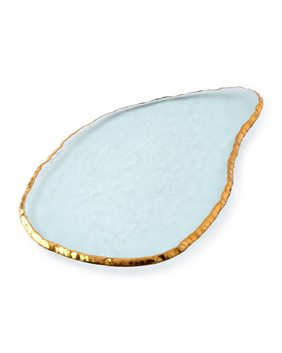 Annieglass Edgey Gold Large Cheese Slab