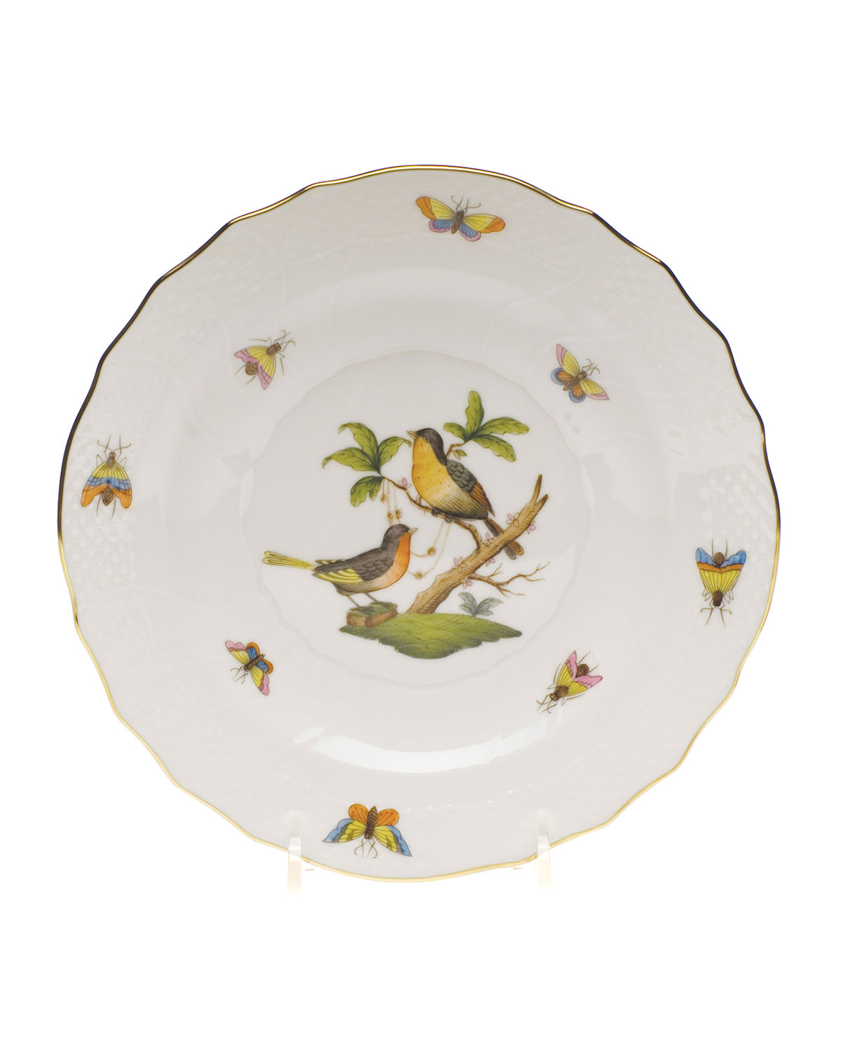 Herend ROTHSCHILD BIRD DESSERT PLATE #8