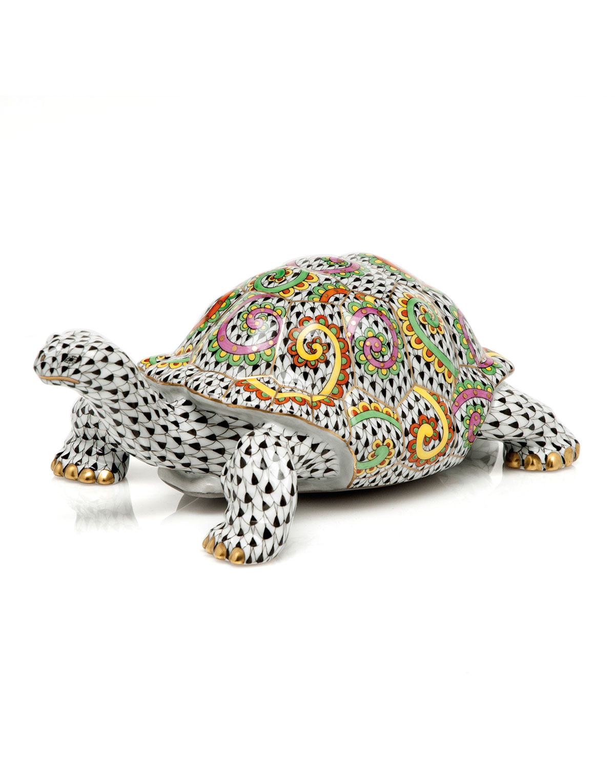 Herend KALEIDOSCOPE TURTLE FIGURINE