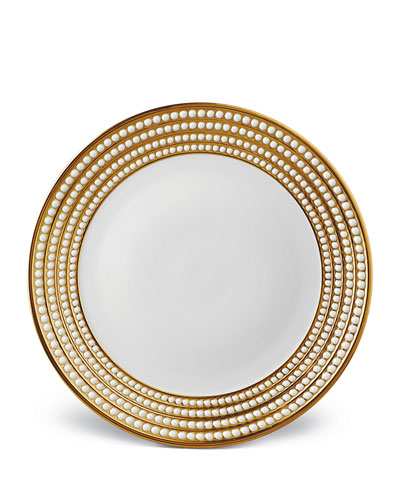L'Objet Perlee Gold Charger Plate