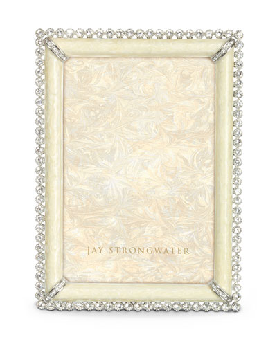 Jay Strongwater Lorraine Stone-Edged Picture Frame
