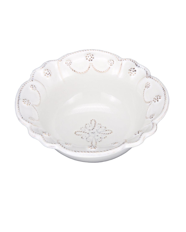 Juliska Dinnerwares JARDINS DU MONDE WHITEWASH CEREAL/ICE CREAM BOWL
