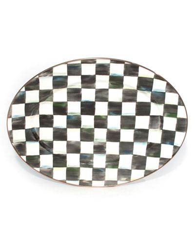 MacKenzie-Childs Medium Courtly Check Oval Platter