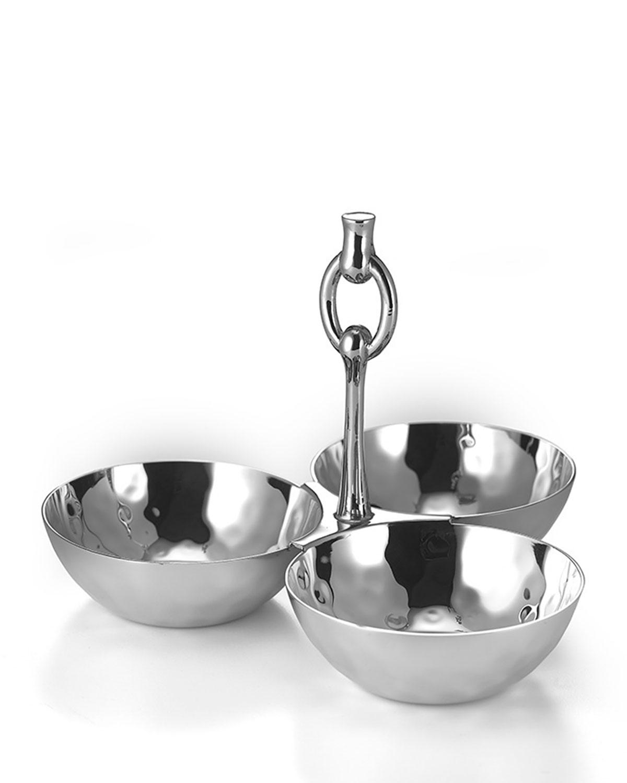 Mary Jurek Dinnerwares OMEGA 3-BOWL SNACK SET