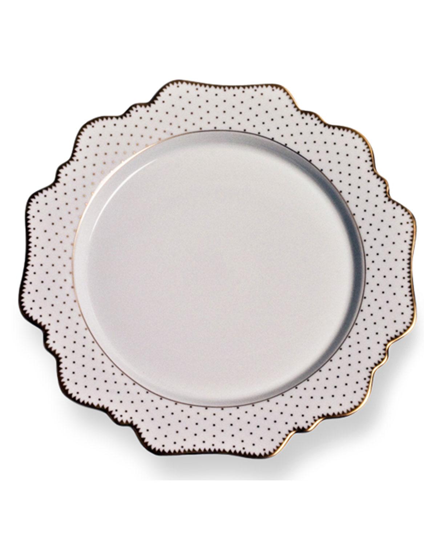Anna Weatherley Dinnerwares SIMPLY ANNA ANTIQUE POLKA DINNER PLATE