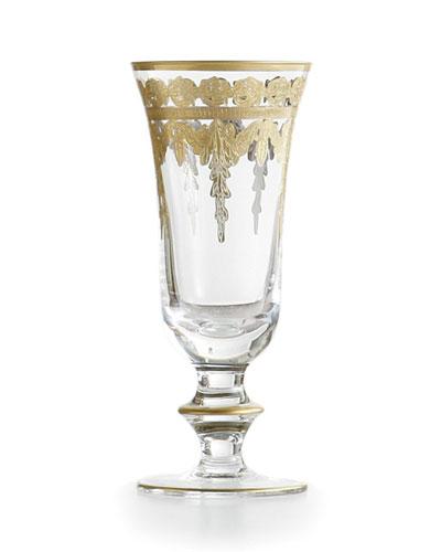 Arte Italica Vetro Gold Champagne Flute