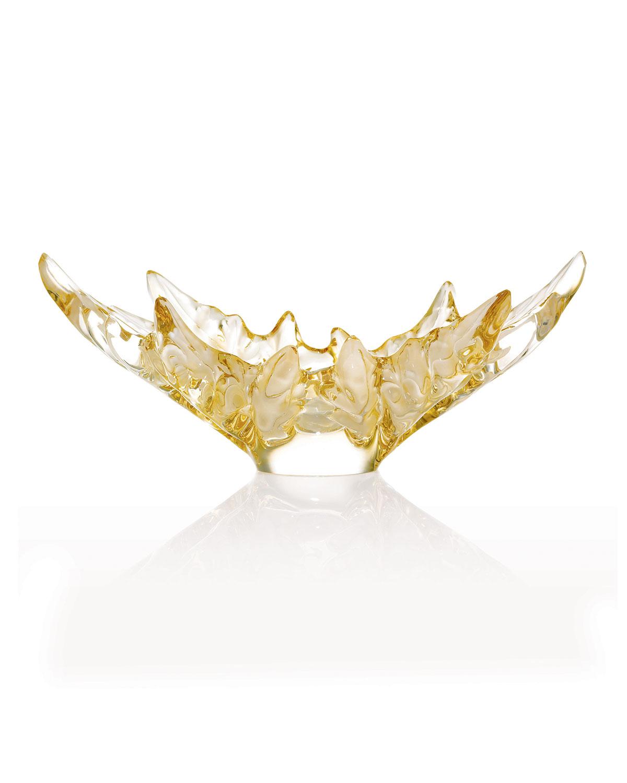 Lalique CHAMPS-ELYSEES BOWL - GOLD LUSTRE