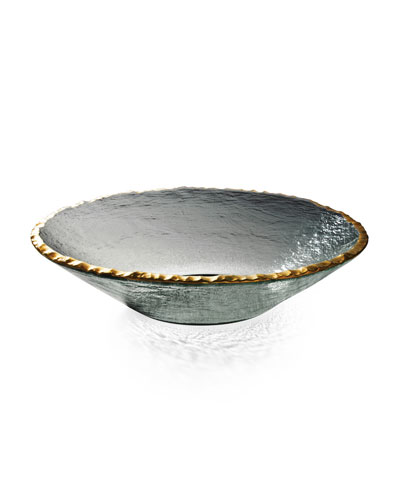 Annieglass Edgey Gold Round Bowl