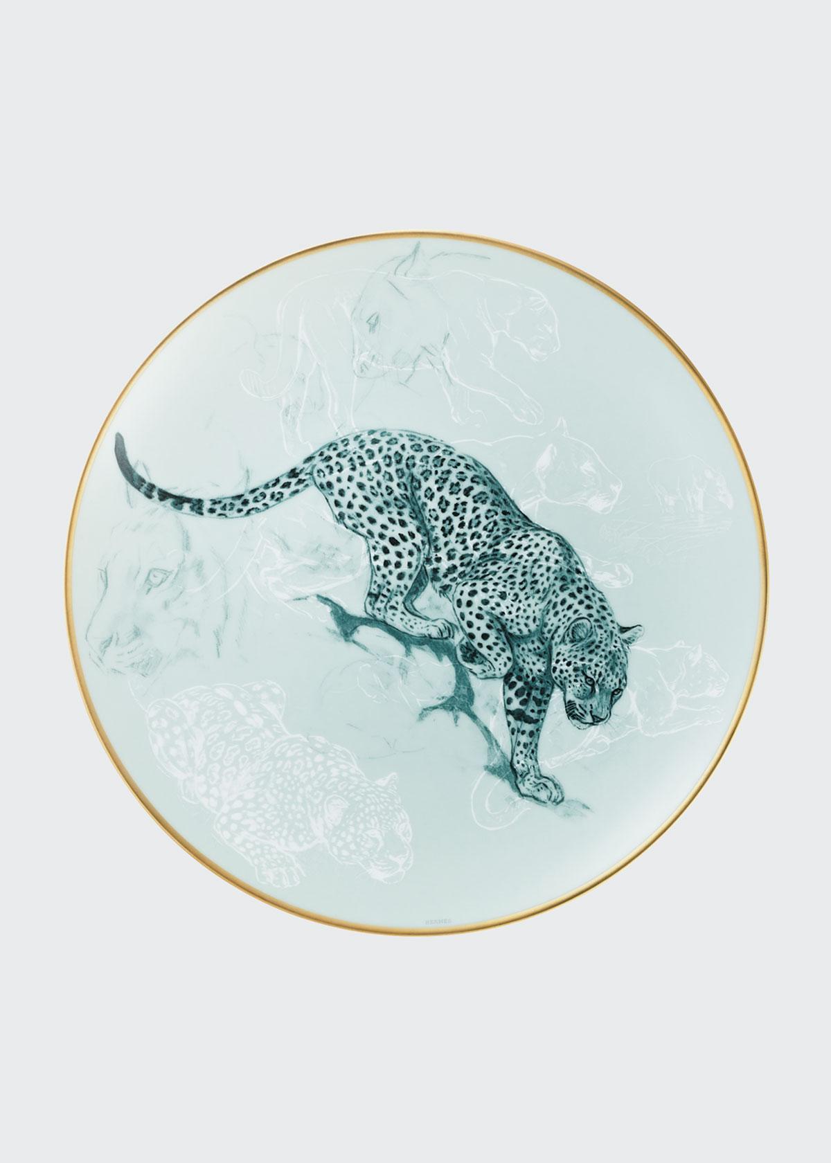 Herm S Dinnerwares CARNETS D'EQUATEUR PANTHER SALAD PLATE