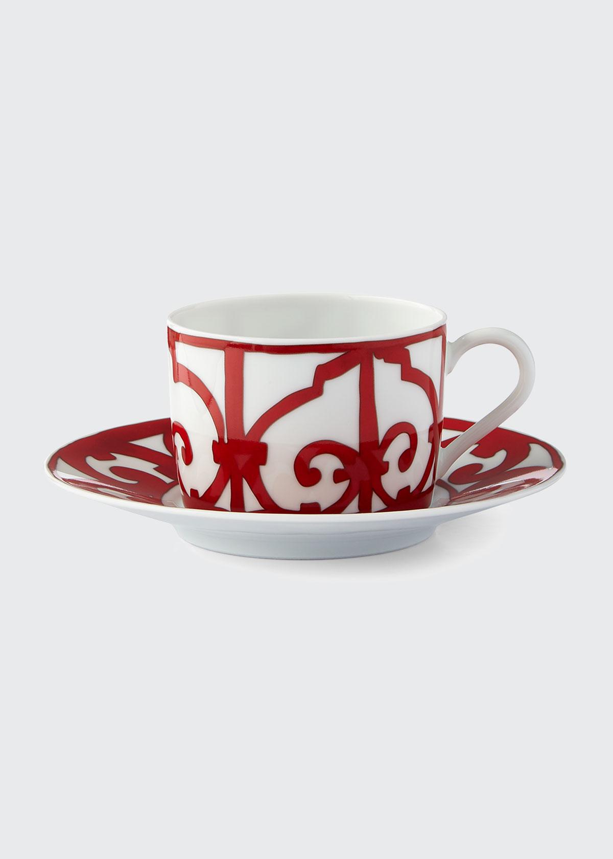 Herm S Drinkwares BALCON DU GUADALQUIVIR TEA CUP & SAUCER