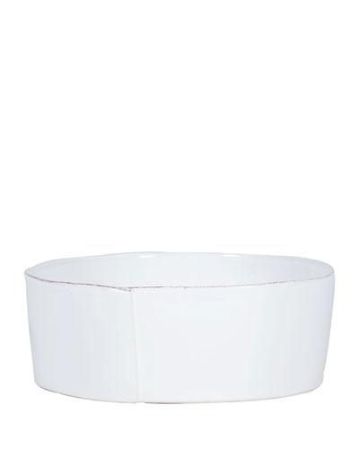 Lastra White Large Serving Bowl