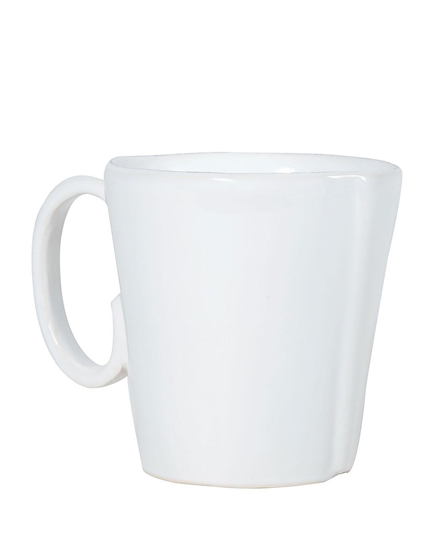 Vietri Drinkwares LASTRA WHITE MUG