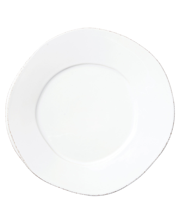 Vietri Dinnerwares LASTRA WHITE DINNER PLATE