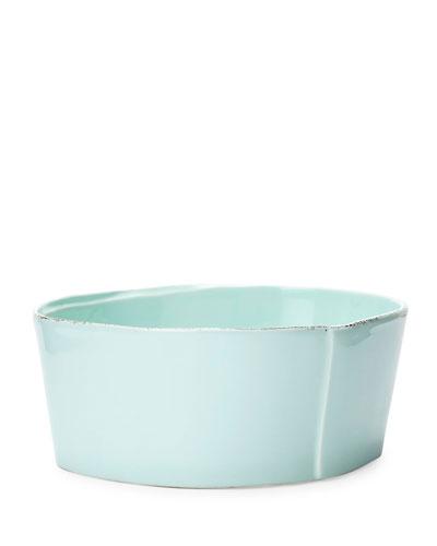 Lastra Aqua Medium Serving Bowl