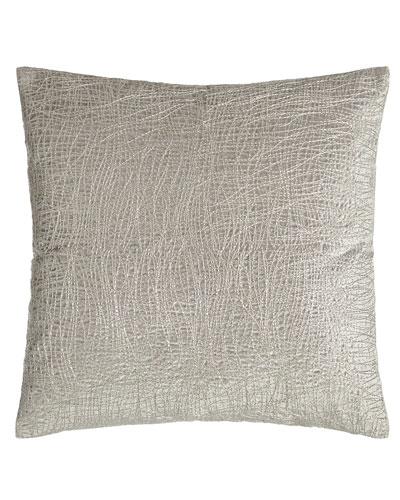 Donna Karan Home Metallic Embroidered Velvet Pillow, 18