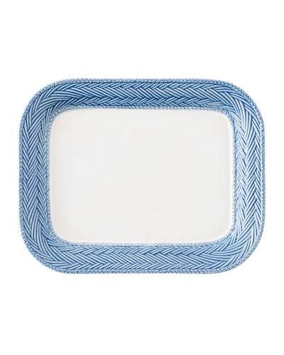 Le Panier White/Delft Blue Platter