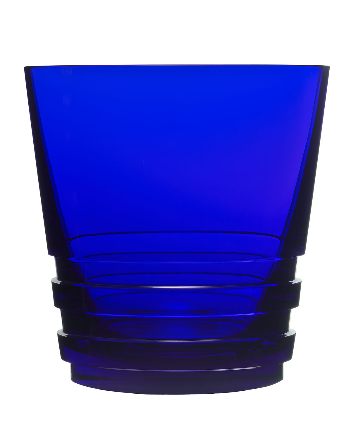 Saint Louis Crystal Clothing LARGE OXYMORE DOUBLE OLD-FASHIONED, DARK BLUE