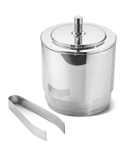 Georg Jensen Manhattan Ice Bucket w/ Tongs