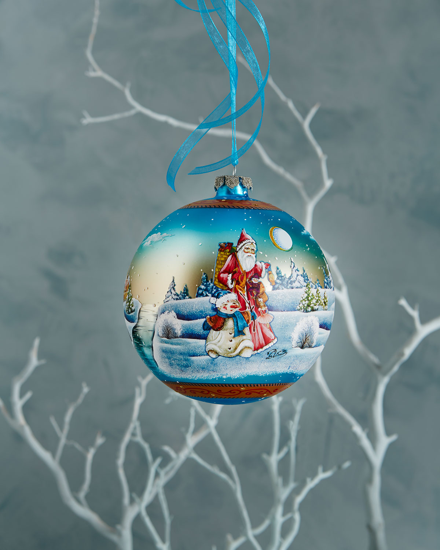 Winter Scene Ball Christmas Ornament