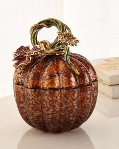 Leaf and Vine Jeweled Glass Jar