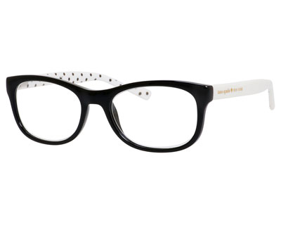 lettie two-tone polka-dot readers