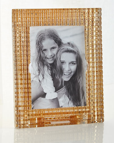 Baccarat Eye Crystal Picture Frame, Gold - 5