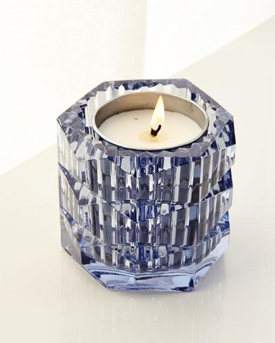Eclat De Nuit Crystal Candleholder, Blue