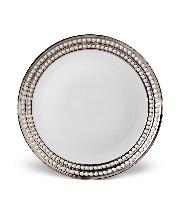 L'objet Dinnerwares PERLEE PLATINUM DINNER PLATE