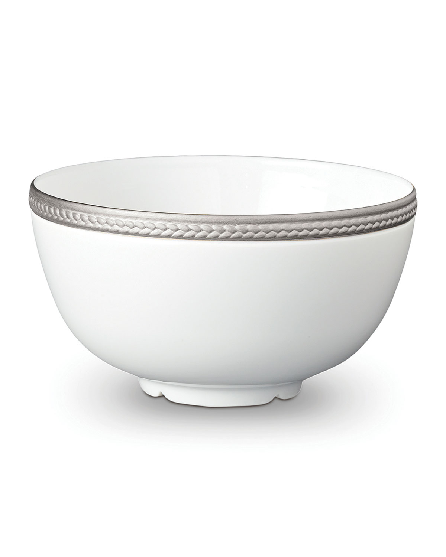 L'objet Dinnerwares SOIE TRESSEE PLATINUM CEREAL BOWL