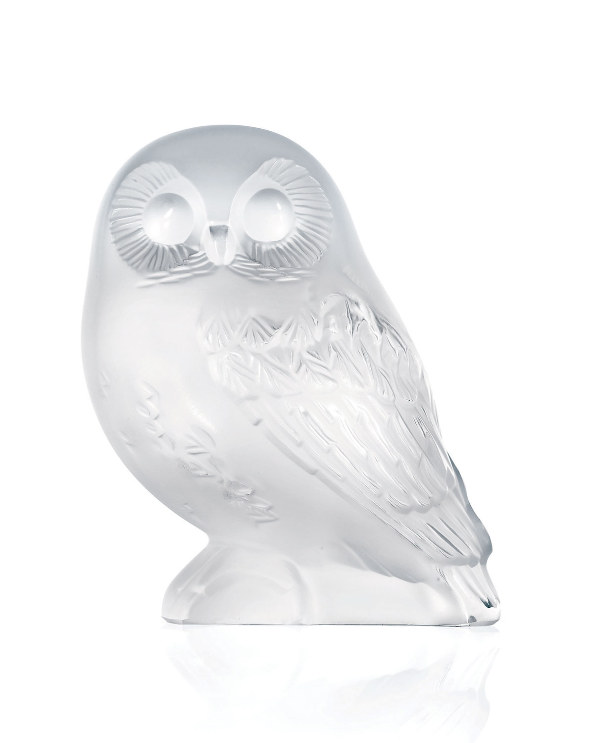 "Lalique Clothing SHIVERS"" CRYSTAL OWL FIGURE"""