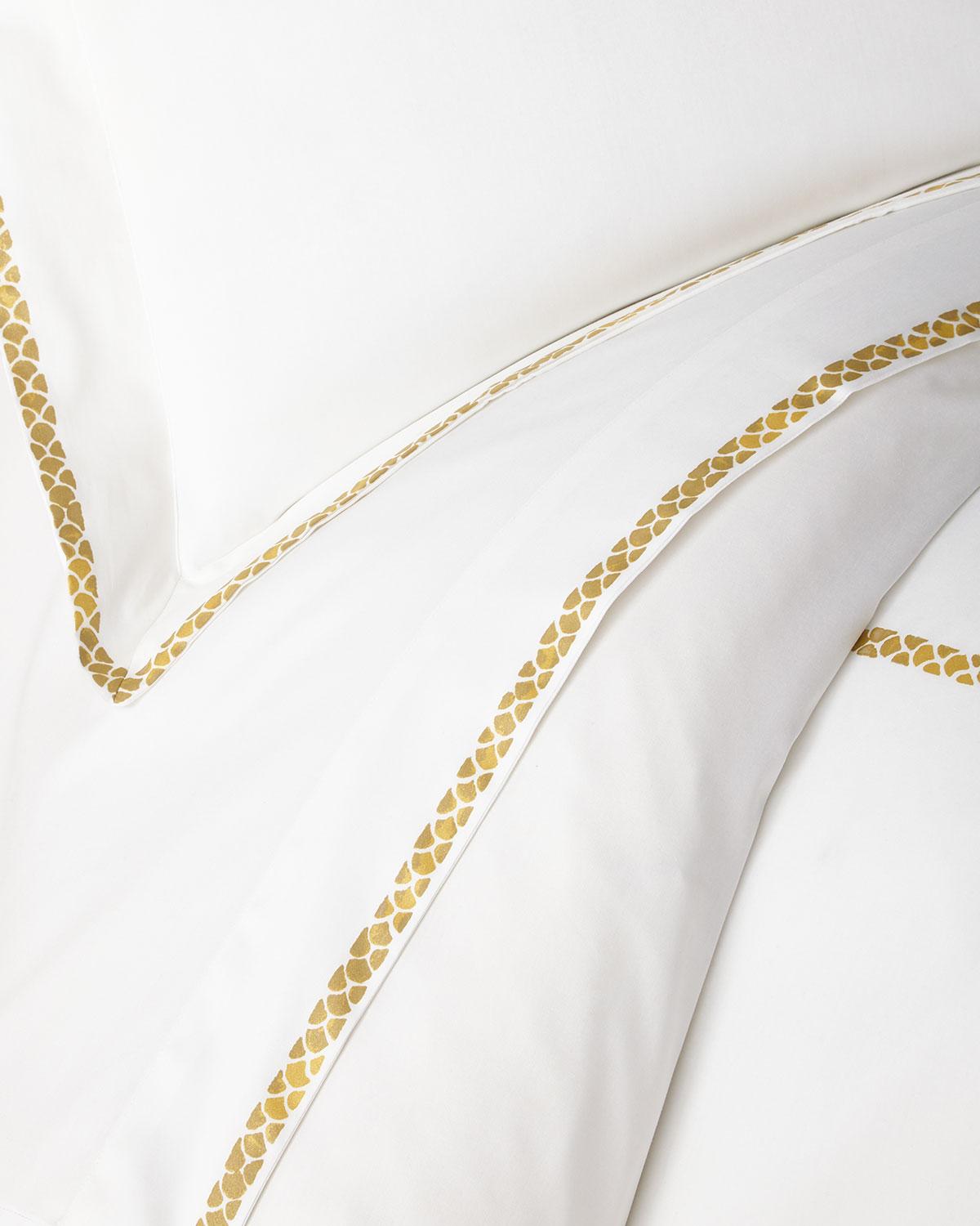 Roberto Cavalli Clothing NEW GOLD QUEEN FLAT SHEET