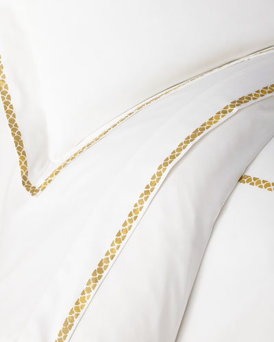 New Gold Plain King Fitted Sheet, White