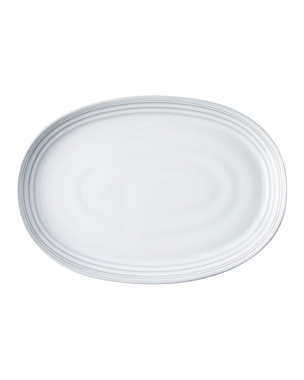"Juliska Servewares BILBAO WHITE TRUFFLE PLATTER, 17"""