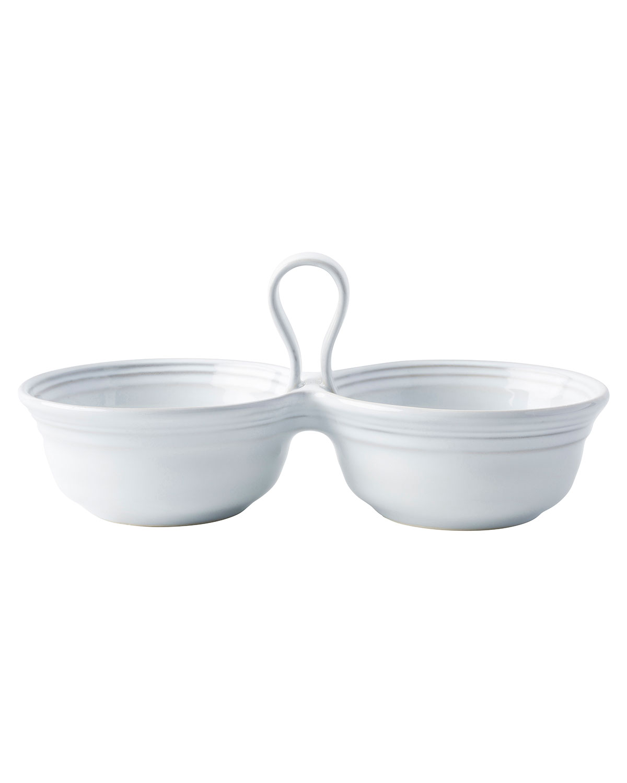 Juliska Dinnerwares BILBAO WHITE TRUFFLE 2-BOWL SERVER