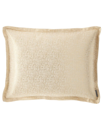 Eva King Linen Lurex Pillow, Ivory